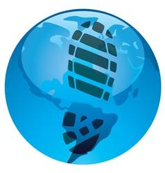 global footprint on earths ecology vector image