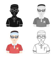 golfergolf club single icon in cartoon style vector image