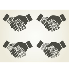 Hand8 vector image vector image