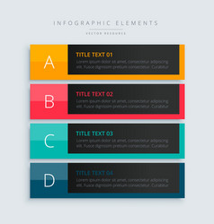 Infographic presentation template banner in dark vector