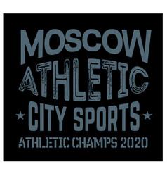 Moscow sport t-shirt design vector