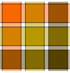 orange khaki marsh color check plaid seamless vector image