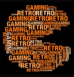 retro gaming vector image