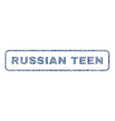 Russian teen textile stamp vector