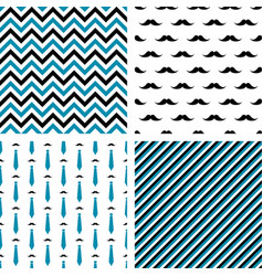 Set of seamless male patterns vector