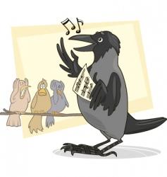 Singing crow vector