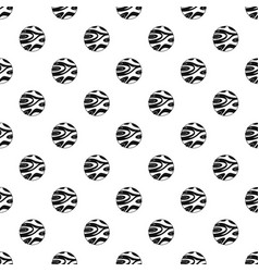 Striped planet pattern vector