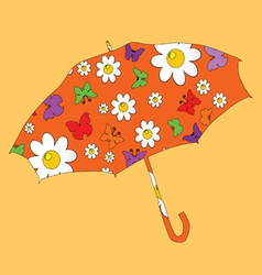 Sweet umbrella for kids vector