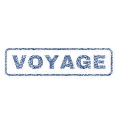 Voyage textile stamp vector