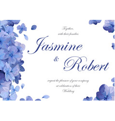 wedding invitation flower invite card design with vector image vector image