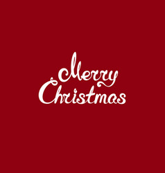 white text merry christmas vector image