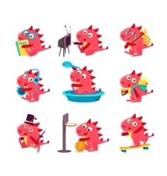 Red dragon everyday business vector