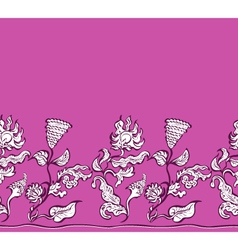 design flowers and ornaments floral vector image