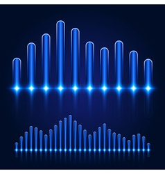 Luminous equalizer on dark background vector
