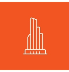 Skyscraper office building line icon vector