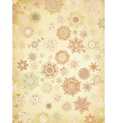 Retro snowflakes card background eps 8 vector