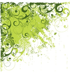 Angled green abstract vector