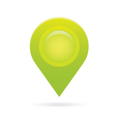 Green map pointer icon marker gps location flag vector