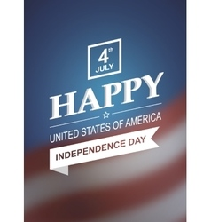 Retro card for independence day of america vector