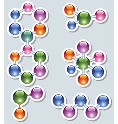abstract molecule vector image
