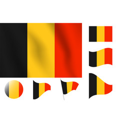 Belgium flag realistic flag national symbol design vector