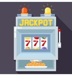 Casino slot gambling machine UI game vector image vector image