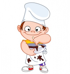 chef boy vector image