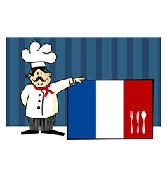 Chef of french cuisine vector