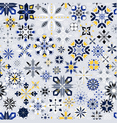 Christmas snowflakes pattern vector