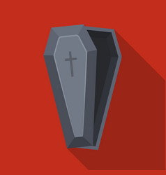 Coffin icon in flat style isolated on white vector