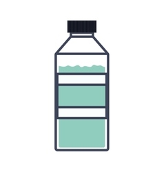 Colorful silhouette of bottle with water vector
