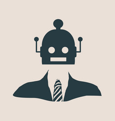 Cute vintage robot with human body vector