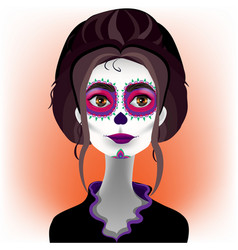 day of the dead katrina 4 vector image vector image