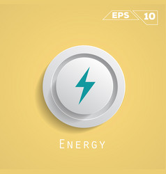 energy circle icon vector image vector image