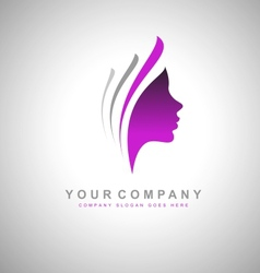 Female Head Design vector image