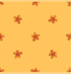 Flower ornament seamless hand-draw to victor vector