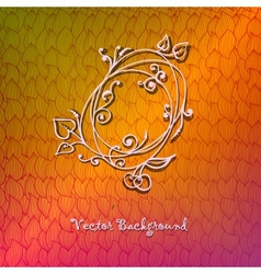 Hand-drawn ornate abstract wave colorful vector image vector image