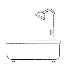 home bathtub isolated icon vector image