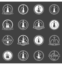 Hookah store icons set vector