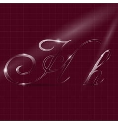 Letters h writing in italics vector