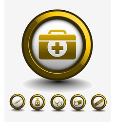 Medical web icon vector
