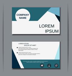 Modern business visiting card vector