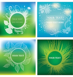 natural frames backgrounds vector image