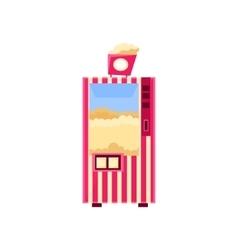 Popcorn cinema vending machine design vector