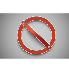 prohibition sign red vector image