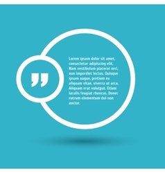 Quote modern template on background vector image