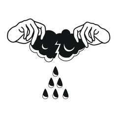 where do rain come from vector image vector image