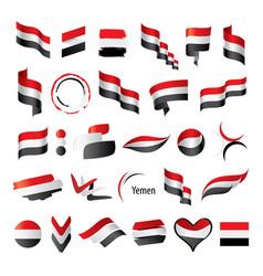 yemeni flag vector image