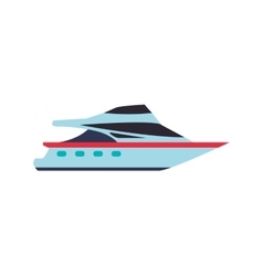 Yacht transportation delivery travel icon vector
