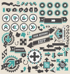 Arrow icons vector image